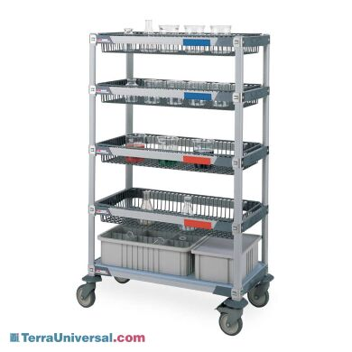 MetroMax i Microban Glassware Cart with 4 baskets (order glassware and containers separately)   1533-22 displayed