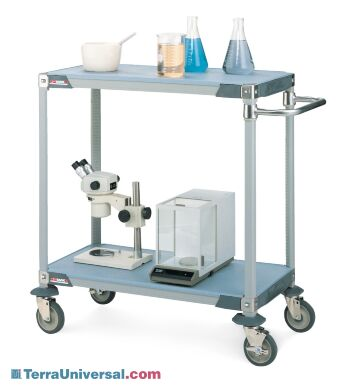 MetroMax i general lab carts transports various lab equipment, glassware, medical samples and supplies   1403-20 displayed
