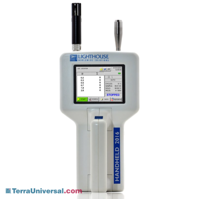 Lightweight 6-channel airborne particle counter with a sensitivity range from 0.2- 2.0 μm; ideal for spot-checking critical environments and cleanrooms