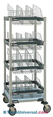 MetroMax i Gown and Bootie Storage units include adjustable baskets and dividers for easy storage of bulky or odd-shaped items | 1403-12 displayed