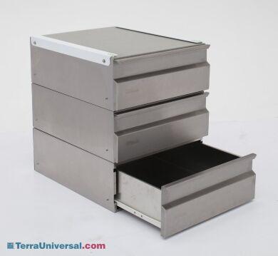 Modular Three Drawer Unit; Stainless Steel 6