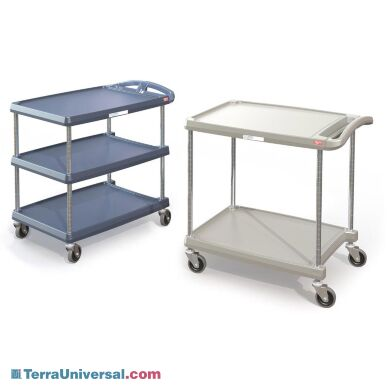 InterMetro two or three tier shelf utility cart with Microban protection | 1532-13A displayed
