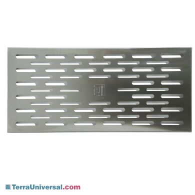 """304 stainless steel perforated shelf for 52"""" shelf-only garment storage cabinets 
