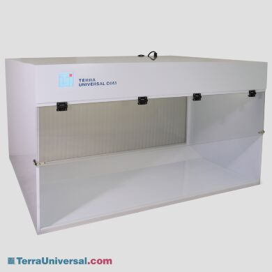 ValuLine WhisperFlow Benchtop Horizontal Laminar Flow Hoods include an integrated, HEPA-filtered fan unit to maintain an ISO 5 environment   1688-42A displayed