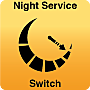 Night service switch, shown mounted on Modular Hardwall Cleanroom panel, puts FFUs in low-energy mode during off-hours  |  6601-70 displayed