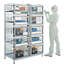NitroPlex nitrogen purged desiccator cabinet with automatic humidity control in each chamber; 10 chambers, adjustable shelving  |  3950-36DNP displayed