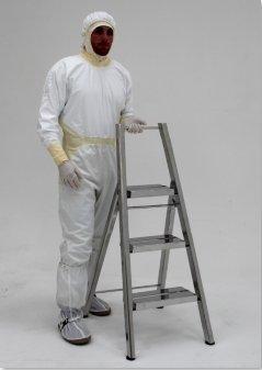 Heavy-Duty Folding Cleanroom Step Ladder