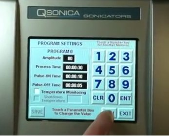 Programmable digital sonicator allows control of speed and duration.