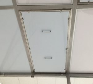 Ceiling module cover protect electrical components and delicate filters