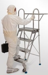 OSHA compliant ladder with handrails | Terra Universal