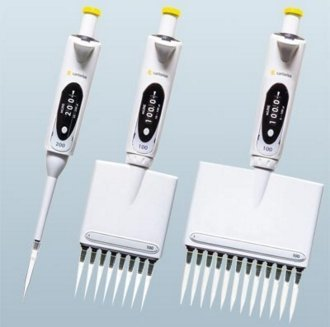 Manual/mechanical pipettes by Sartorius.