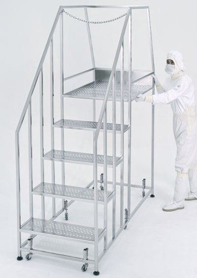 Cleanroom Step Ladder Stair with platform | Terra Universal