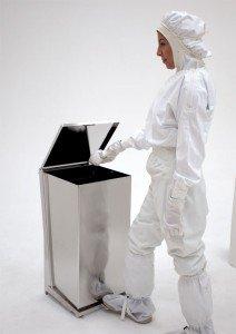 Biosafe stainless steel waste receptacle | Terra Universal