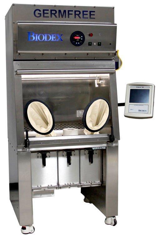 Germfree radiopharmacy isolator