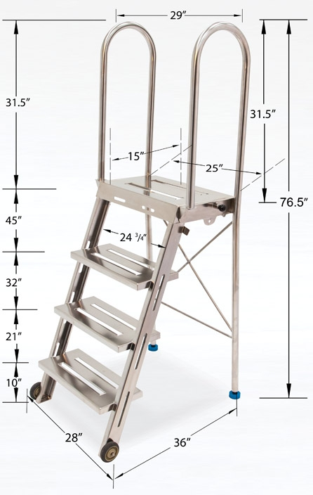 Phenomenal Biosafe Heavy Duty Folding Cleanroom Step Ladder And Work Platform Ibusinesslaw Wood Chair Design Ideas Ibusinesslaworg