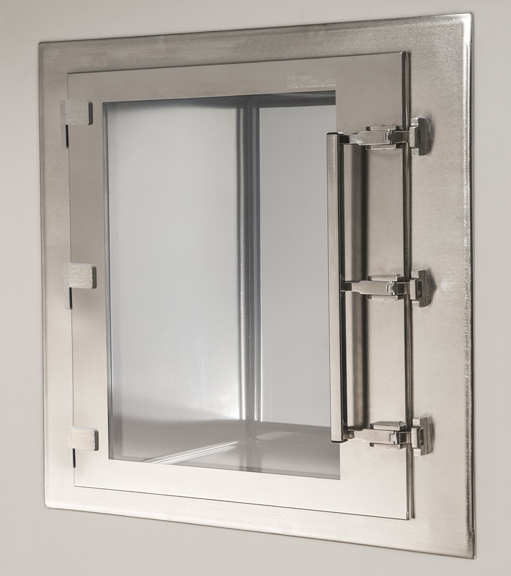 CleanMount CleanSeam Stainless Steel Passthrough Chamber Door