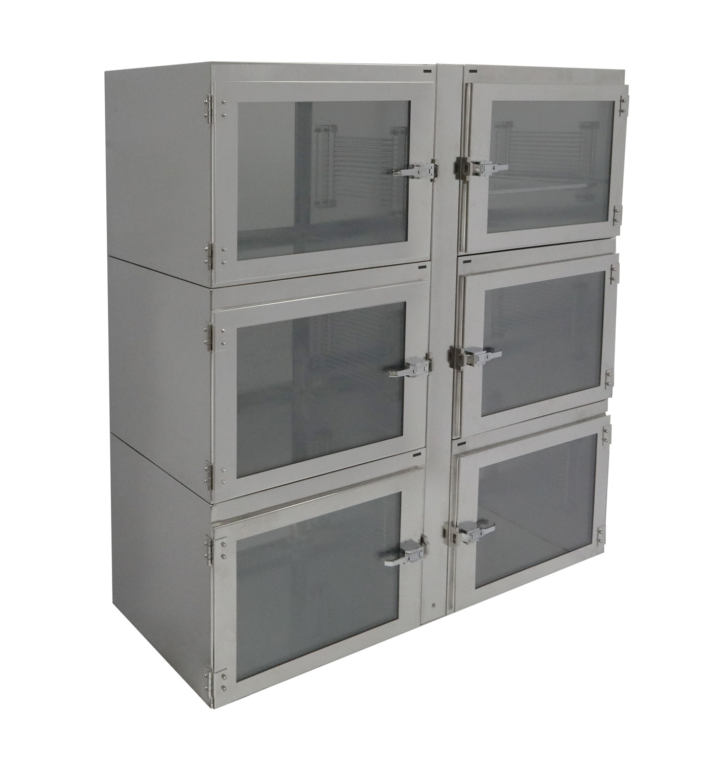Six Chamber Adjust-a-Shelf Stainless Steel Desiccator Cabinet | Terra Universal