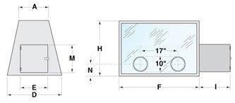 Series 500 Glove Box Dimensional Illustration