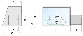 Series 600 Glove Box Dimensional Illustration