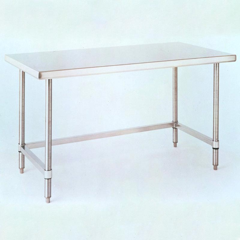 InterMetro Solid Top Cleanroom Table With 3 Sided Frame