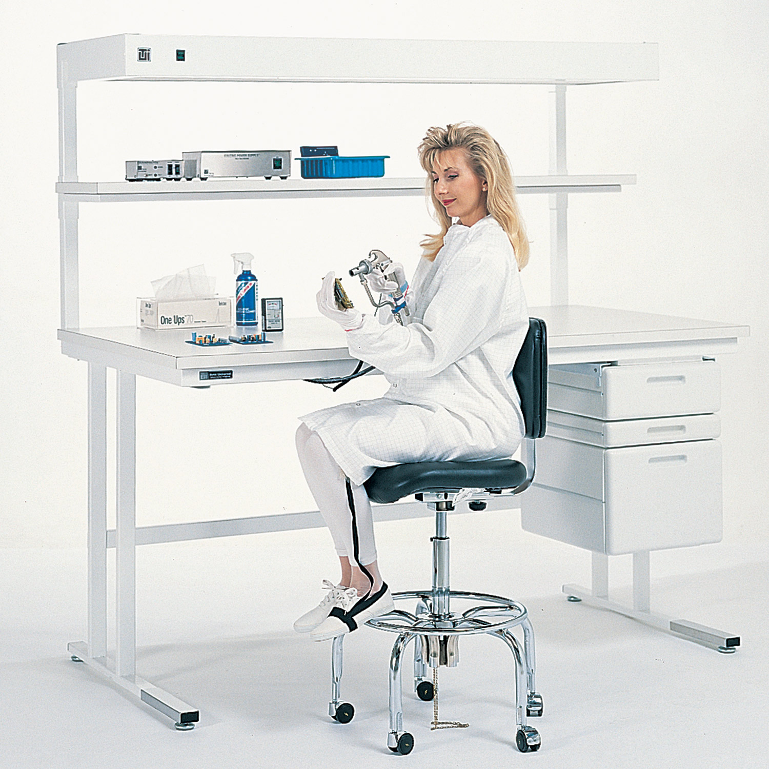 Workstations with Static-Dissipative Tops