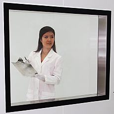 BioSafe Frameless Tempered Single Glass Window