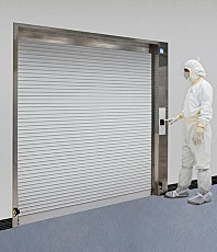 Cleanroom Roll-Up Aluminum Door with Model
