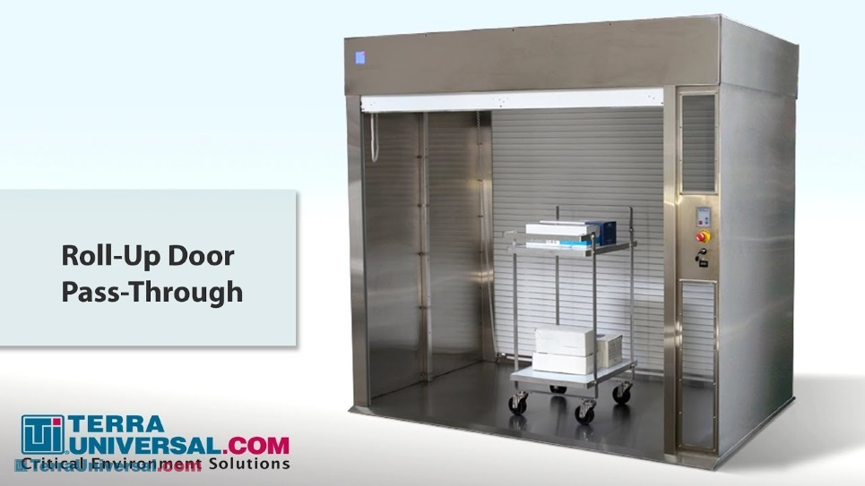 Video Overview of Cleanroom Roll-Up Door Pass-Through Chambers