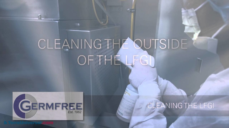 Step by step process on how to properly clean a Germfree Positive Pressure Germfree LFGI unit