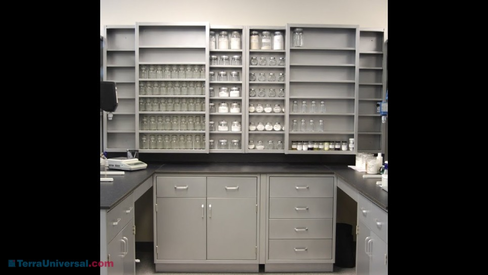 Casework showcases their complete customizable laboratory, cabinets and shelves