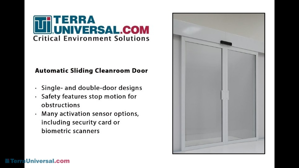 Video showing the automatic cleanroom doors