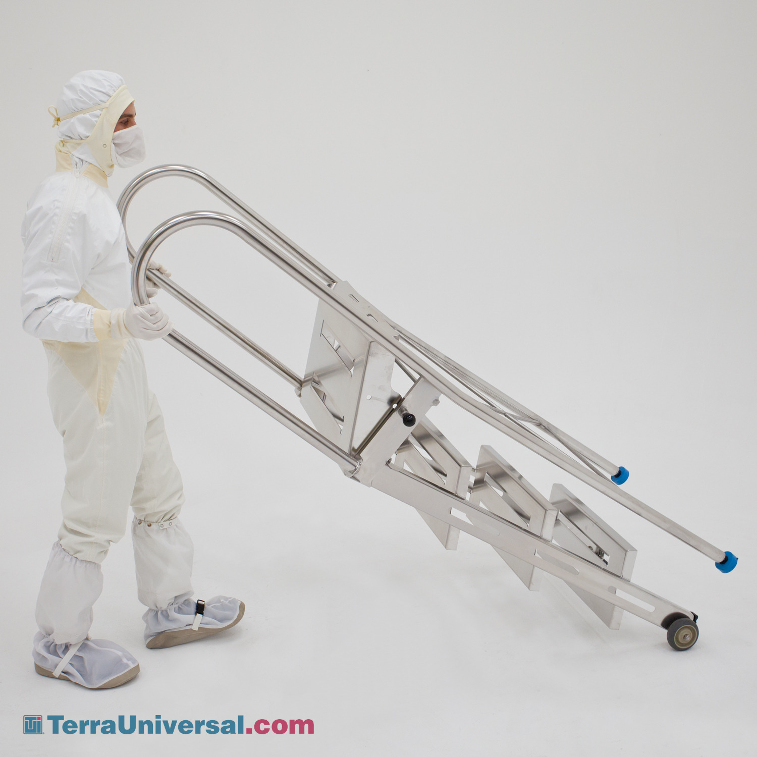 Cleanroom Step Stairs, Work Platforms and Folding Ladders