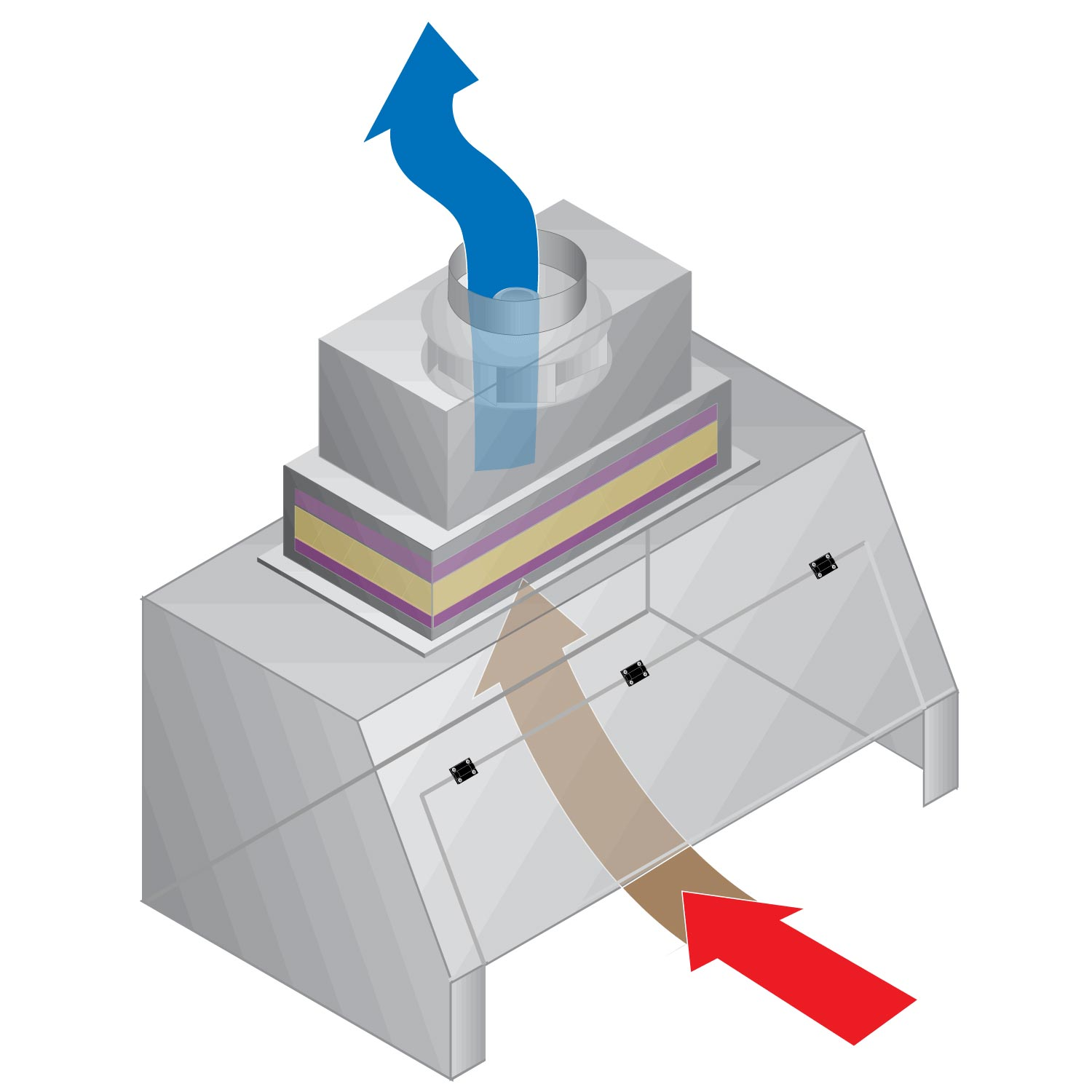 Ductless Exhaust Hood Air Flow Diagram