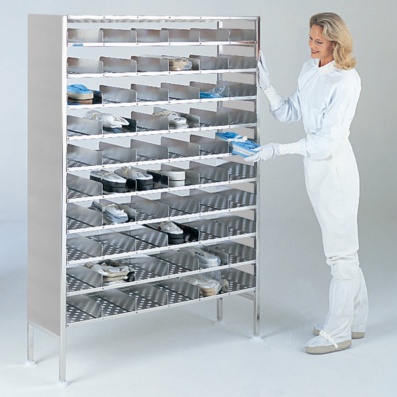 BioSafe Bootie Rack for Gowning Rooms and Cleanrooms