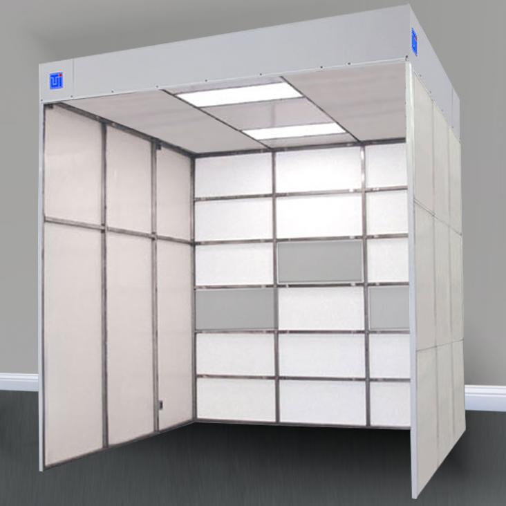 horizontal laminar flow modular cleanroom