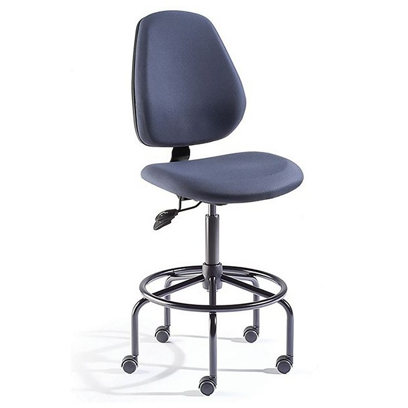 BioFit MVMT Tech Chair Tubular Leg Base With Armrest And Fixed Foot Ring