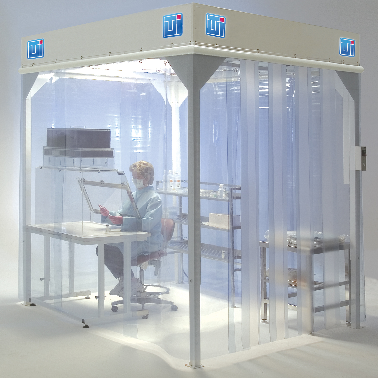 Softwall Modular Cleanroom with Vinyl Curtains