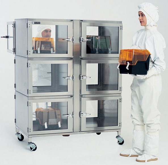 Six-Chamber Stainless Steel Desiccator Cabinet with Chamber-Level Humidity Control System