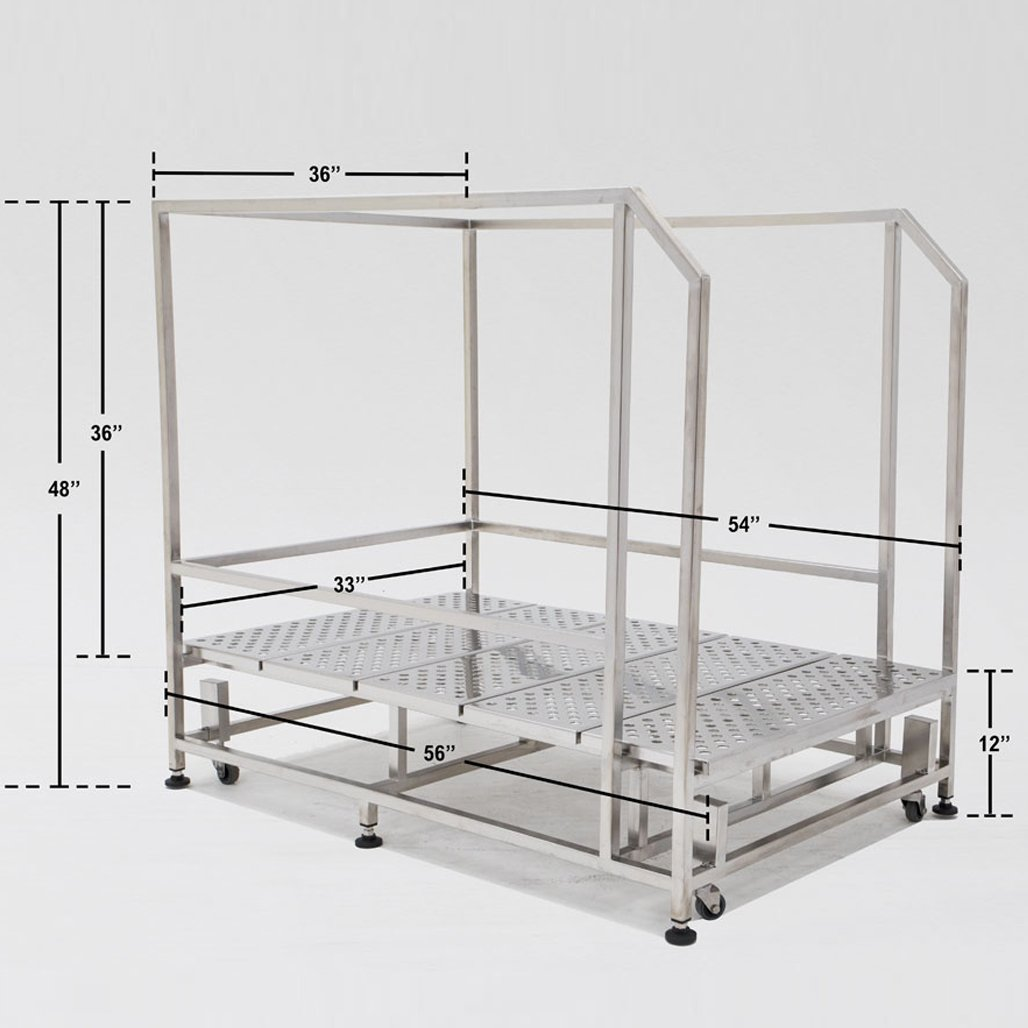 Cleanroom Work Platform without Step