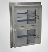 General-Use Desiccator Pass-Through Chambers, Stainless Steel