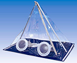 Glovebox; Pyramid, Portable, PVC, 2 Glove Ports, Mobile Disposable Isolation Enclosure, Erlab