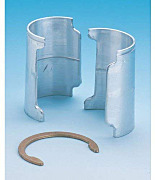 Split Sleeve: Aluminium w/Zinc and Retaining Rings for Shelves, InterMetro