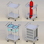 Cleanroom Service Carts
