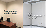Wall Panel; Cleanroom Conversion, CPVC, 4'W x 8'H, Smooth White