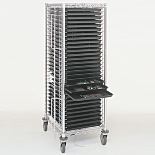 Cart; Cleanroom, Chrome-Plated Steel, 28