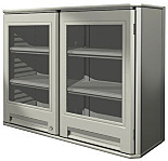 Lab Cabinet; Wall-Mounted Polymer with Clear Doors