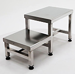 Gowning Bench; 304 Stainless Steel, Dual Level, 36