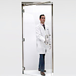 Frameless Manual Swing Doors for Terra Cleanrooms