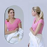 Mirror; BioSafe®,  Oval, 18