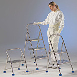 BioSafe® Stainless Steel Folding Step Ladders